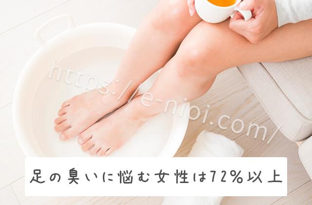 足臭に悩む女性は72%もいる